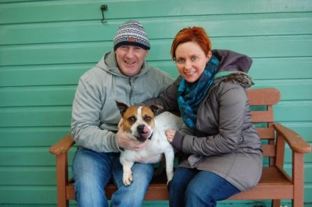 Vinnie with his new owners